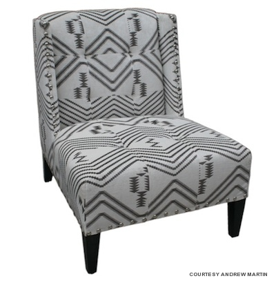 Superb The Sexy Black And White Combo Of Andrew Martinu0027s Triton Chair In Navaho  Grey Features Its Interpretation Of African Tribal Prints, Emblazoned  Across An ...